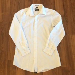 Bellissimo White Dress Shirt Size L EUC